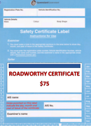 ROADWORTHY  CERTIFICATE  Sunnybank Brisbane South West Preview