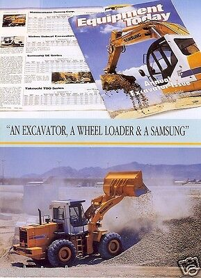 Equipment Brochure - Samsung - Excavators Wheel Loaders 92 Award Se280lc Eb124