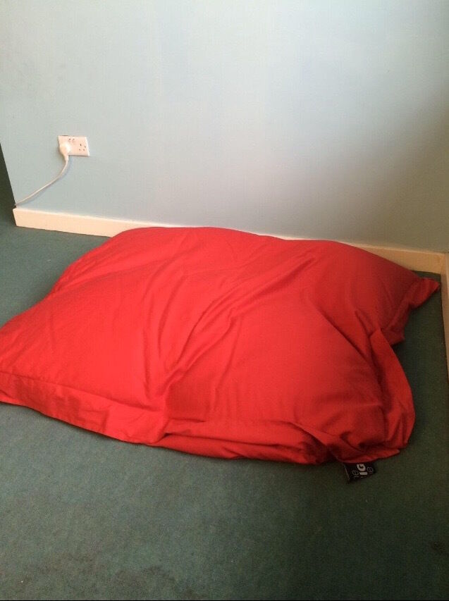 Large Red The Big One Beanbag From Dunelm Mill In Radford