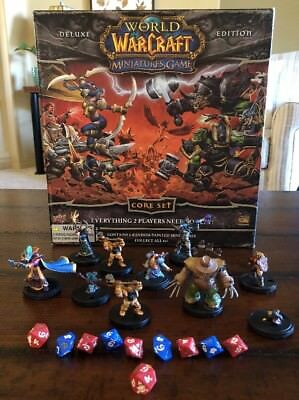 World of Warcraft Miniatures Game Core Set Deluxe Edition Incomplete