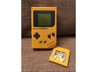 Original Gameboy plus Pokemon Yellow