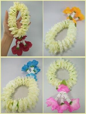 Artificial Thai Flower Jasmine Fabric Mini Round Garland Hang Phuang Malai Gift