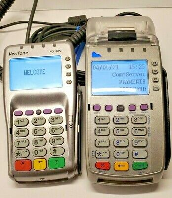 Verifone Vx805 Card Terminal Emv Wired Pinpad Credit Card Chip Reader Device