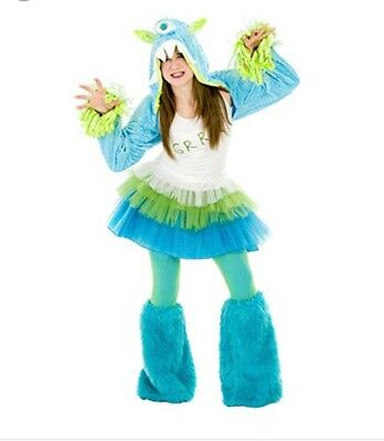Princess Paradise Girls Uggsy Grr Monstar 1 Eye Monster Halloween Costume 10-12