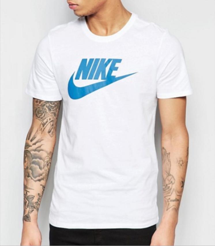 1fe6891eac8cb9 ... Nike Herren Sport T-Shirt weiß Größen  S M L XL XXL T-Shirt kurzarm ...