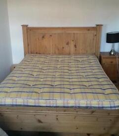 King size bed frame and mattress gone subject to collection