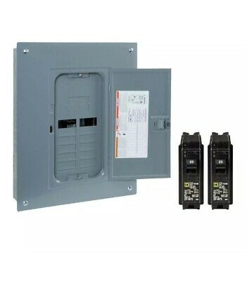 2-space 24-circuit Indoor Main Lug Plug-on Neutral Load Center Breaker Panel Box