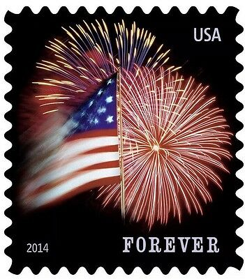 100 Stamps USPS Forever Stamp Roll USA Star Spangled Banner Flag Coil DISCOUNTED
