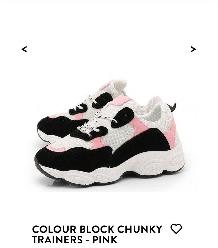378e7dd20a66cd Boohoo Block Pink Trainers
