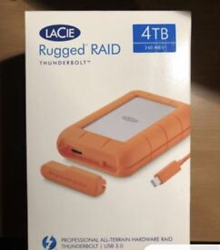 BRAND NEW RUGGED RAID THUNDERBOLT & USB 3.0