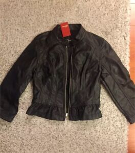 GUESS faux leather jacket-never worn