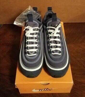 Men's Nike Air MAX 97 LE SlipOn Obsidian Blue/White/Silver sz 13 W/Replacment...