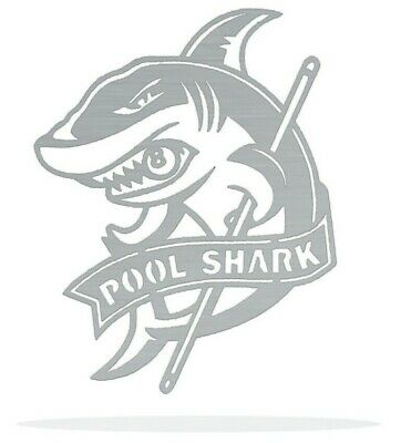 Pool Shark Metal Art Wall Decor Gift Idea - Shark Decorating Ideas