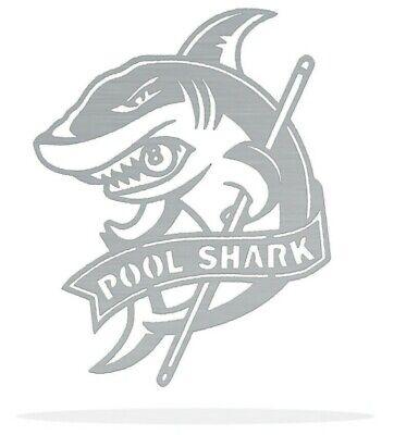 Pool Shark Metal Art Wall Decor Gift Idea