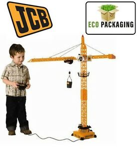 JCB Giant 120cm Construction Remote Control Tower Crane Boys Toy