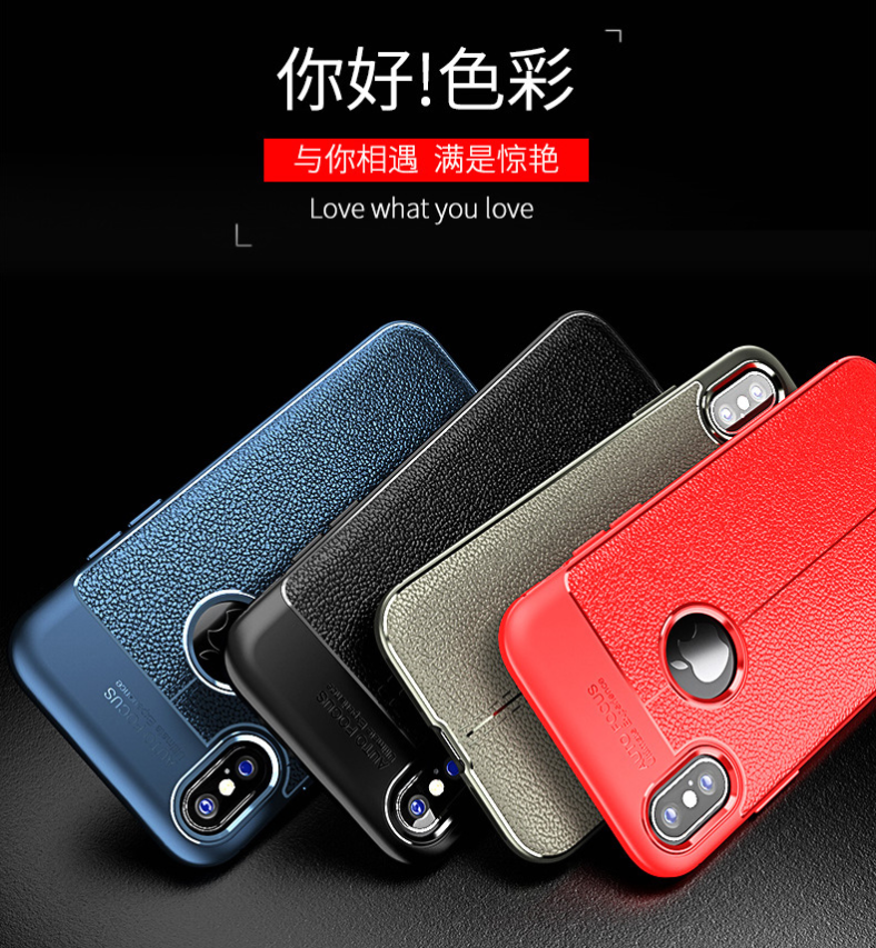 Luxury PU Leather Pattern Hybrid Soft Phone Case Cover For iPhone X XS Max XR Cases, Covers & Skins