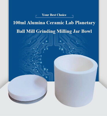 100ml Alumina Ceramic Lab Planetary Ball Mill Grinding Jarball Mill Cup Bowl