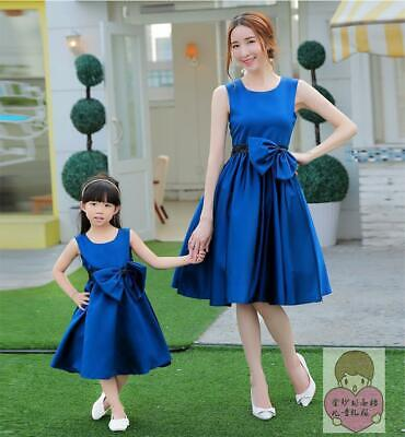 Gowns For Kids (Womens Kids Girls Cute Matching Mother and Daughter Spring Casual Dress)