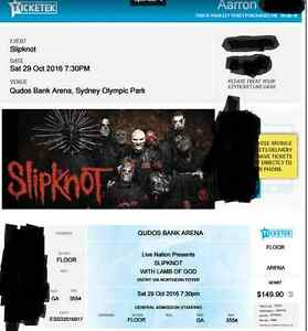 SLIPKNOT SYDNEY TICKET - GENERAL ADMISSION Leonay Penrith Area Preview