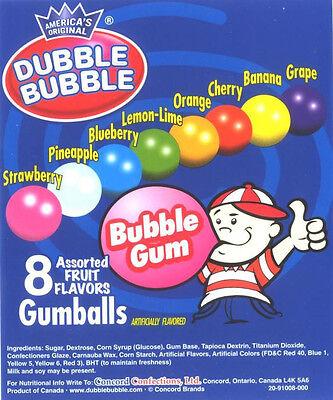 120 Dubble Bubble 1 Gumballs Bulk Vending Candy Gum Balls Double Concord Tootsi