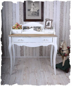 sekret r weiss wandkonsole shabby chic schreibkonsole. Black Bedroom Furniture Sets. Home Design Ideas