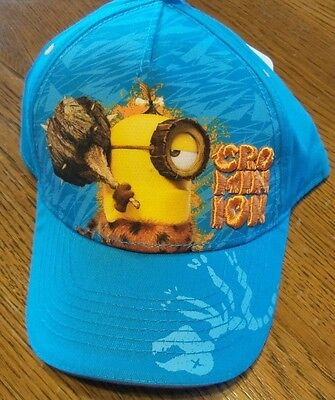 Despicable Me Minions Hat Baseball Cap OSFM Blue Stitched