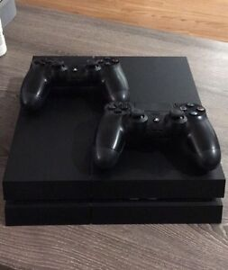 PS4 with 3 controllers