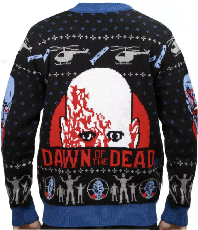 Zombie DAWN OF THE DEAD Cardigan Sweater Middle Of Beyond MOB Sold Out Rare Uhly