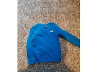 Blue The North Face jumper large boys 12/14yrs