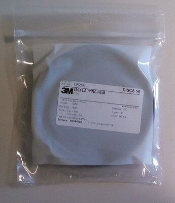 3m Lapping Film Disc 466x 5xnh 5mic 3mil Silicon Carbide Adhesive Back 50 Discs