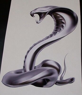 chrome Cobra Snake RV motorhome Wall Window Laptop Decal decals Graphics Mustang