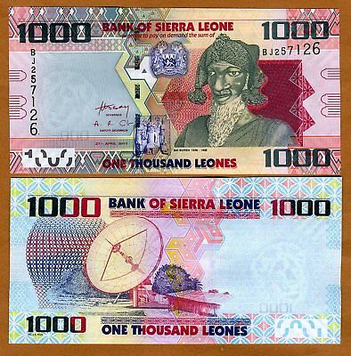 Sierra Leone, 1000 (1,000) Leones, 2010, P-30, UNC segunda mano  Embacar hacia Argentina
