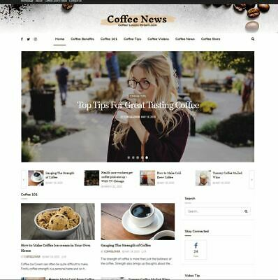 Custom Coffee Lover Blog Turnkey Website Business With Domain Name