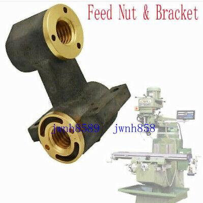 1set Milling Machine Part J Head X Axis Y Axis Feed Nut Bracket For Bridgeport