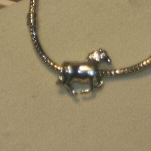 Antiksilber Bead neu Charm Element Pferd Horse für Pandora Armband und andere