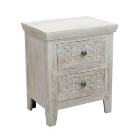 Debenhams - Mango Wood Ashoka Bedside Cabinet With 2 Drawers
