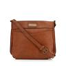 NEW Kangol Front Zip Brown Tan Pocket Front Cross Body Bag Unisex