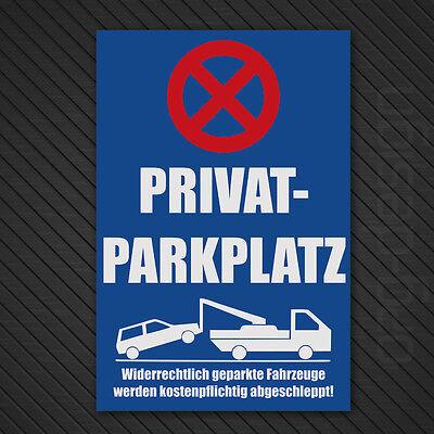 Parkplatz Schilder Parkverbot Hinweis - Schild Parkenverboten Privatparkplatz