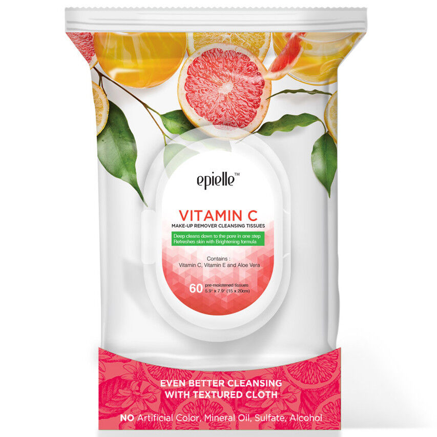 vitamin c makeup remover facial cleansing tissues