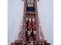 Stunnig bridal asian indian dress designer new