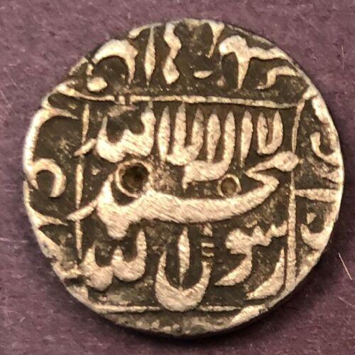 India - Mughal, Shah Jahan, Half Rupee, KM# 218.14, Patna, Year 18, XF, RARE, 5.