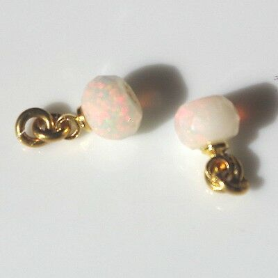 GORGEOUS 14K GOLD FILLED PETITE FIERY ETHIOPIAN 5 MM OPAL DROP EARRINGS JACKETS