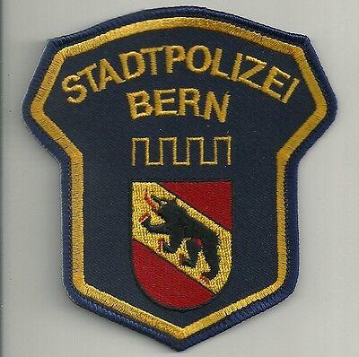 SCHWEIZ  STADT- Polizei BERN  Police Abzeichen Patch Aufnäher Hauptstadt Polizia