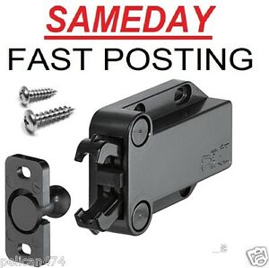 Push to Open Touch Release Catch Latch loft Cabinet Cupboard Doors 4kg hold BN