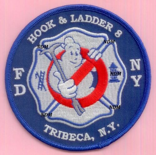 New York City Fire Dept Ladder 8 Patch Tribeca Ghostbusters Round