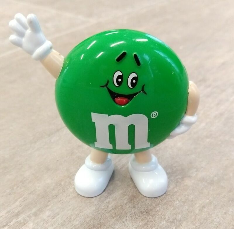 Vintage Mars M&M Green Candy Dispenser 1991