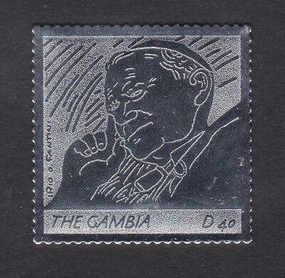 Gambia 2005 Death of Pope John Paul 40d - Silver Foil - MNH (B6B)