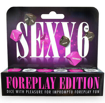SEX DICE Adult Game SEXY 6 FOREPLAY EDITION Erotic Xmas GIFT Stocking Filler H ()