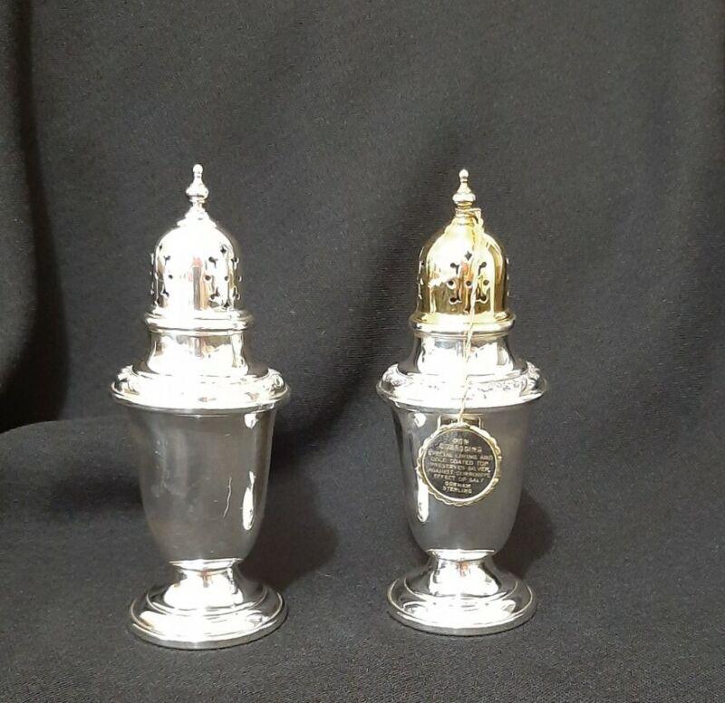 Gorham Vintage Sterling Silver Salt & Pepper Shakers, # 978  Beautiful!  82.8 gr
