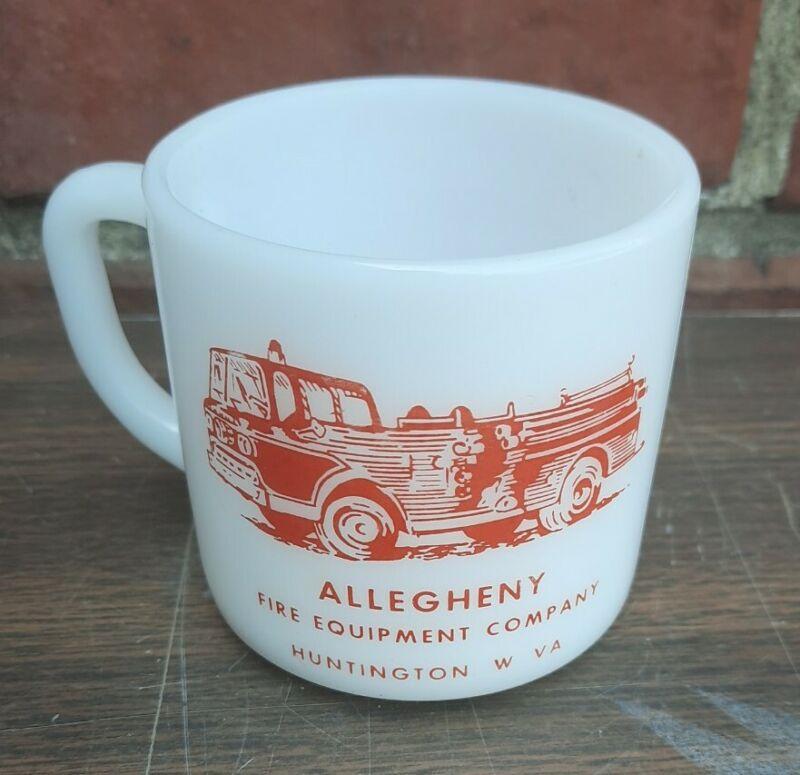Vintage 1965 Allegheny Fire Equipment Co Huntington WV Coffee Mug Cup